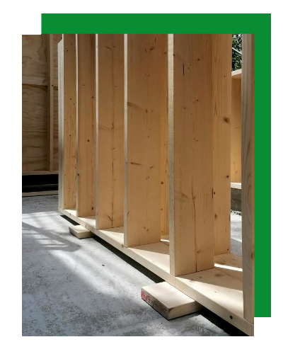 Wooden Houses_dettaglio struttura a telaio