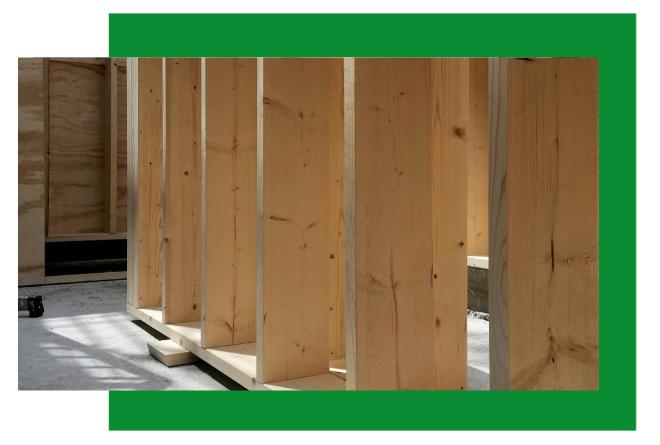 Wooden Houses_dettaglio inizio struttura a telaio
